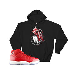 gym red 11 hoodie : retro 11 hooded sweatshirts : Jordan 11 gym red hoodies