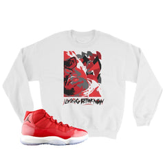 Jordan 11 Gym Red Sweater : retro 11 gym red crewnecks : gym red 11 sweat shirts