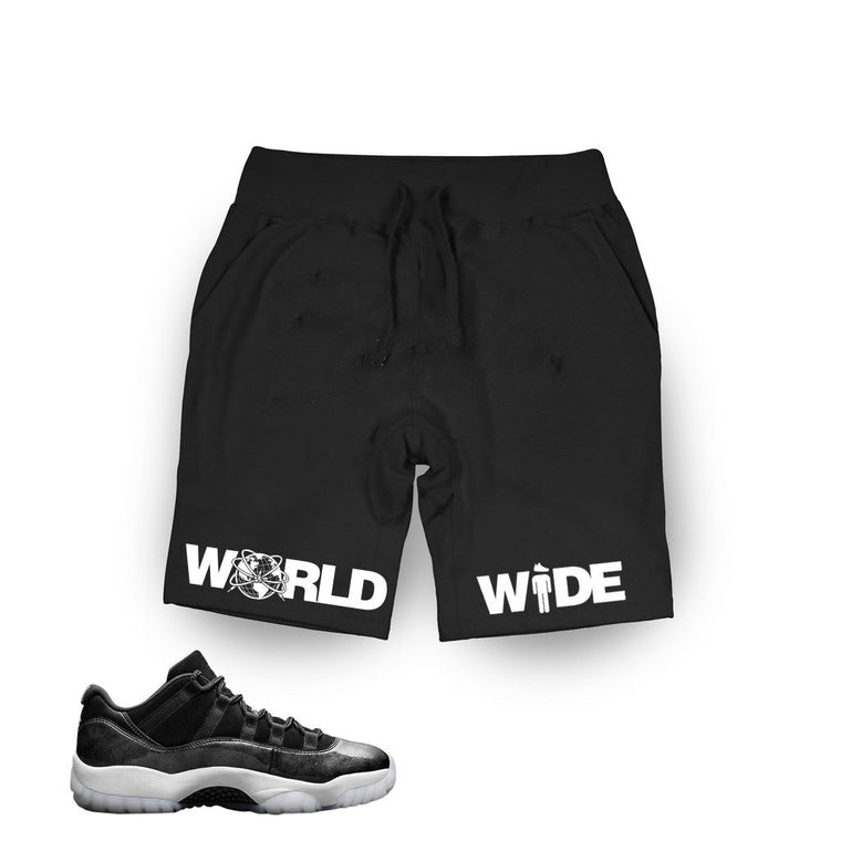 Jordan 11 Low Barons Black/White SweatShorts