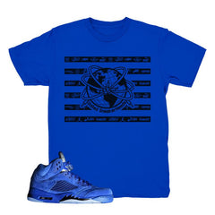 Jordan 5 Blue Suede Tee, Flight Suit 5 Shirts