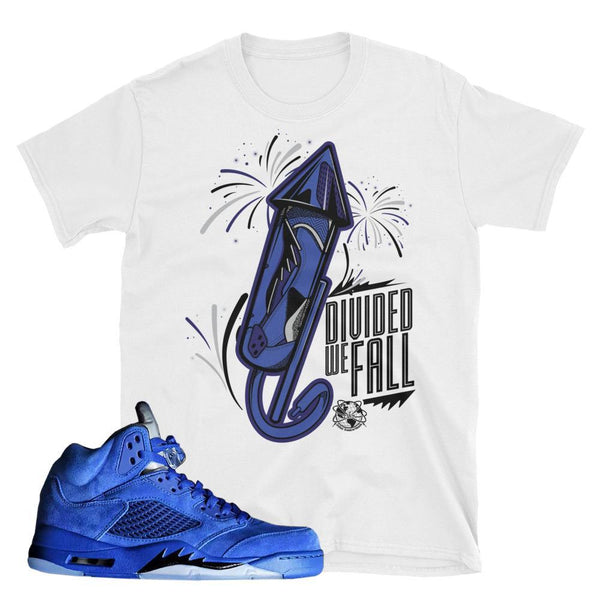 Air Jordan 5 Blue Suede T-Shirt