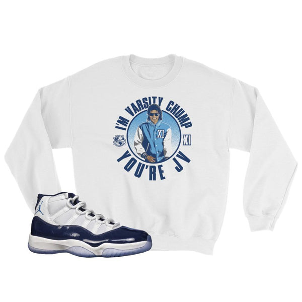 Midnight Navy 11 Sweater, Retro 11 UNC Sweatshirt