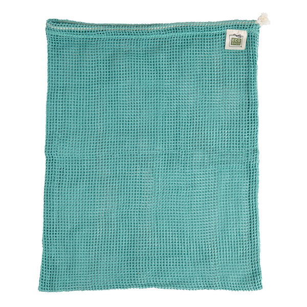 ECOBAGS® Organic Cotton Reusable Produce Bag- Washed Blue