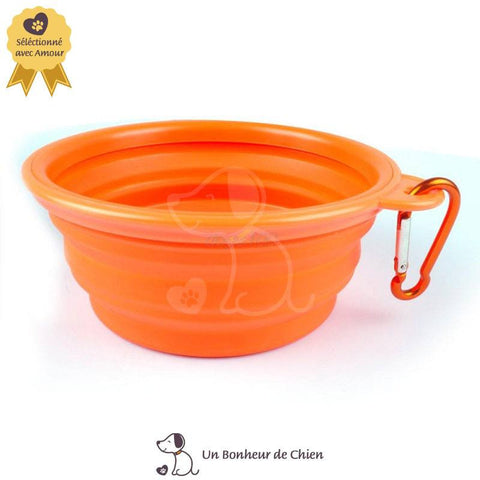Image of gamelle eau chien portable orange