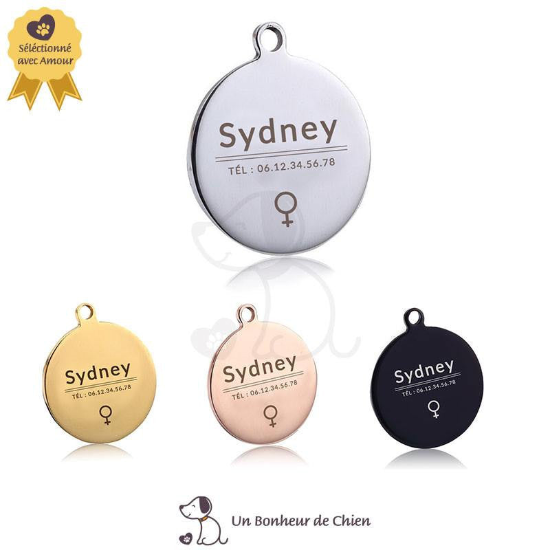 médaille luxe chien rond