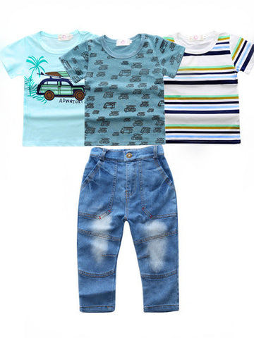Boys 4 Piece Outfit - Day at the Beach - Snick and Spice