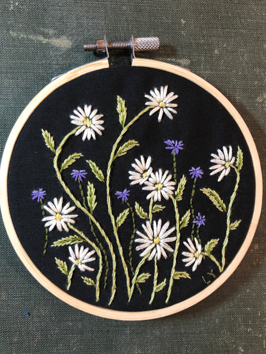 Daisies and bachelor buttons