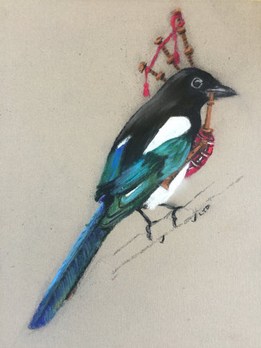 Magpie with Bagpipes