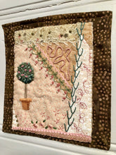 Topiary Mini Crazy quilt wall hanging