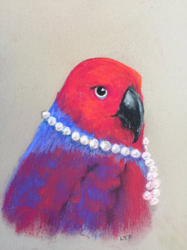 Eclectus in Pearls
