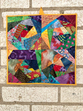 Contemporary Mini Quilt with Batiks