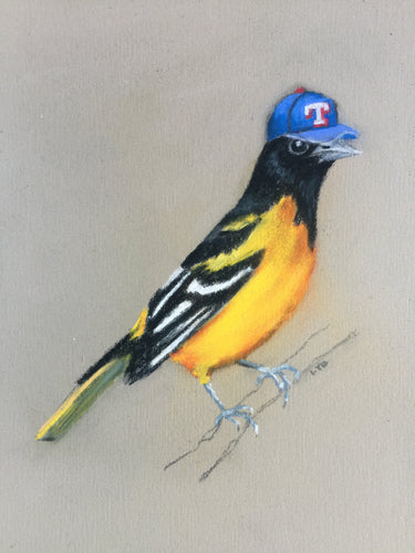 Baltimore Oriole in a Baseball Cap (not his own)