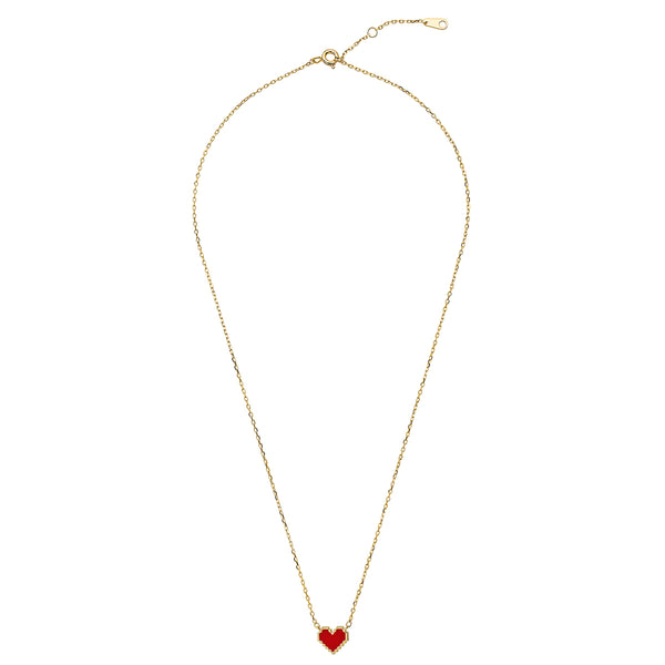 COLLAR CORAZON ROJO