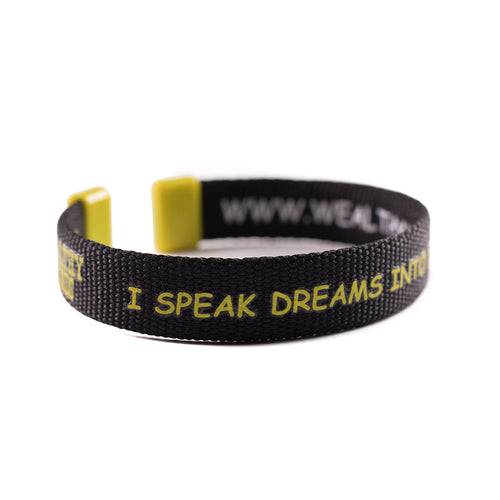 Motivational Wrist Band, Speak Your Dreams, Manifest Your Dreams