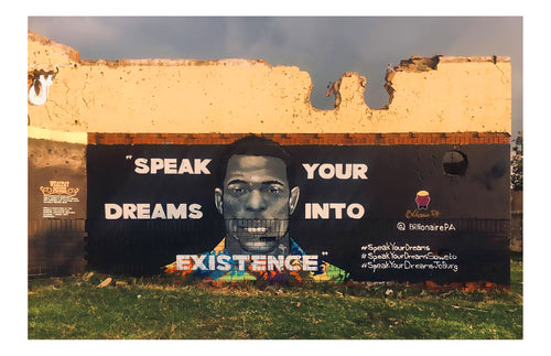 Dream Wall Soweto South Africa Print #6