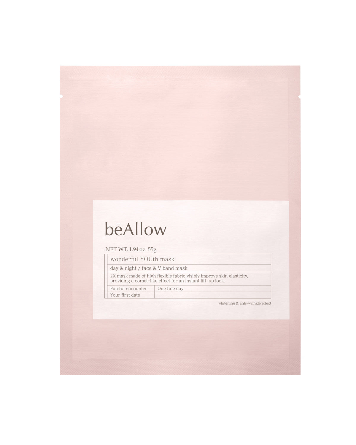bēAllow Wonderful Youth Mask