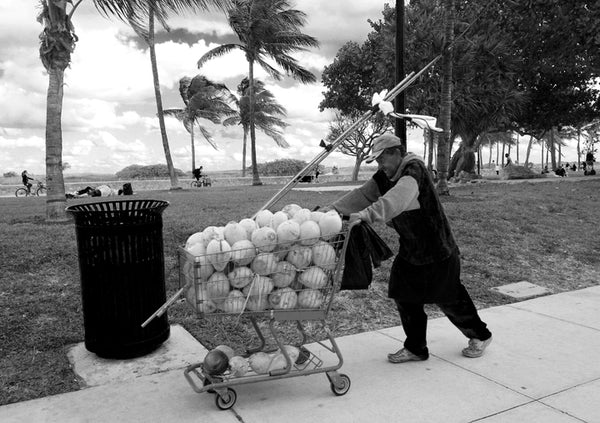 """Down to Business"" while walking through Ocean Drive, Miami Beach"