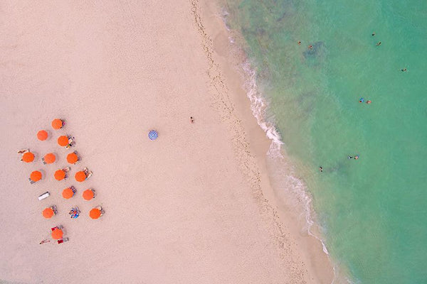 NEW RELEASE Be Different in Miami Beach Aerial Fine Art Photography by Roman Gerardo