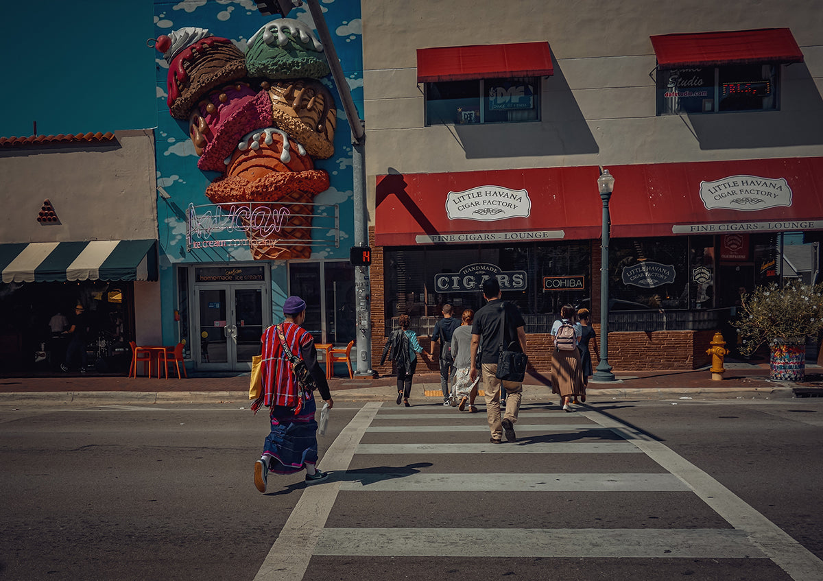 """Crossing Calle 8"" ...while walking through Little Havana in Miami"