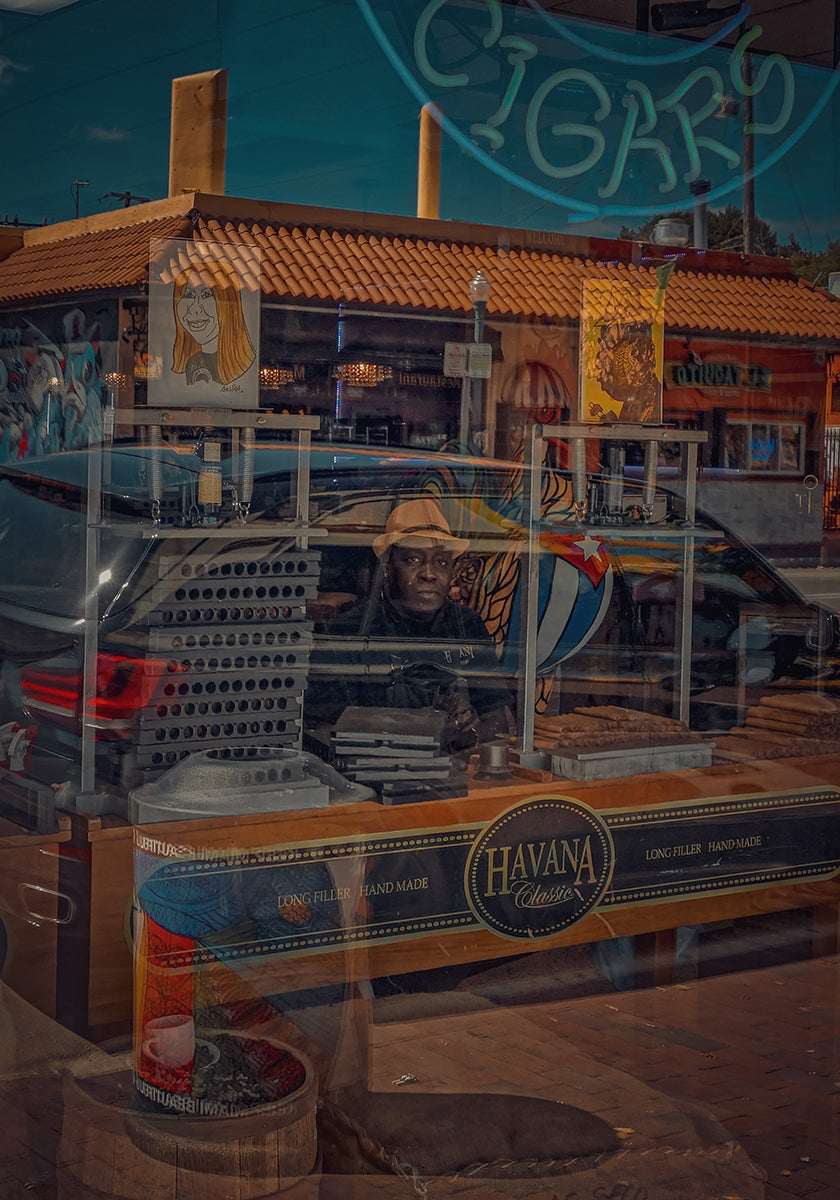 """Cuban Cigar"" while walking through Little Havana, Miami"