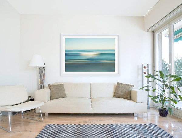 NEW RELEASE Large South Beach Coming Wave Abstract Seascape Fine Art Photography Print by Roman Gerardo