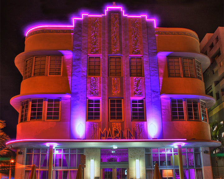 marlin hotel miami beach art deco architecture photography print by