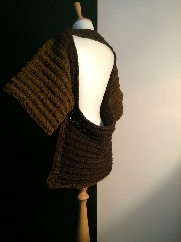 Pure Peruvian wool. Chunky crocheted innovative clothing.