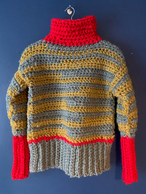 Ski Gypsy. Crocheted Sweater. Breathable and super soft. Commissions.