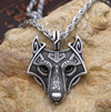 NA Tribal Wolf Necklace