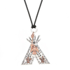 NA Tribal Tipi Necklace