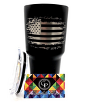 American Flag Tumbler - YETI / RTIC / HOGG - Laser Engraved not a sticker - Graphic Pros