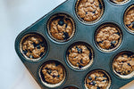 7-Grain and Chia Overnight Blueberry Muffins