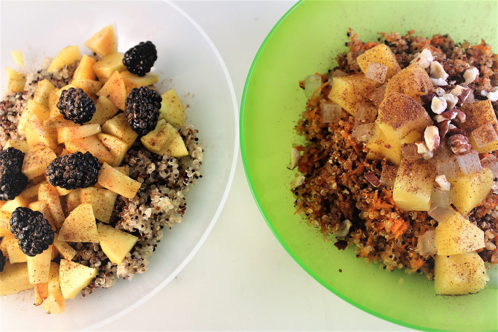 Quick and Easy Caramel Pecan Quinoa Breakfast Bowls (Two Ways)