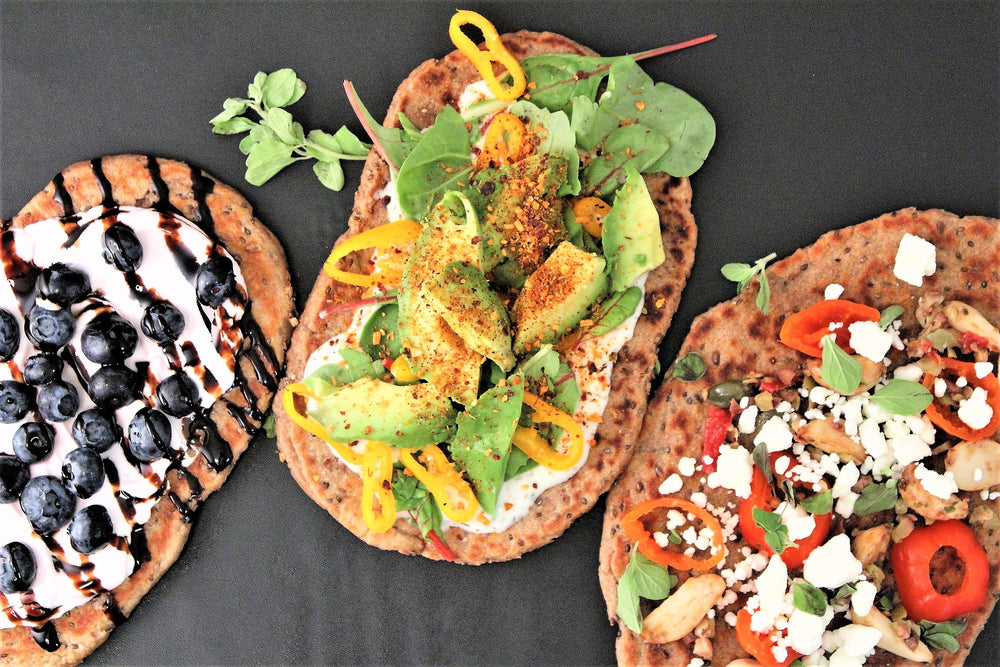 Sprouted Einkorn & Seed Flatbread and 3 Vegan Ways to Love It