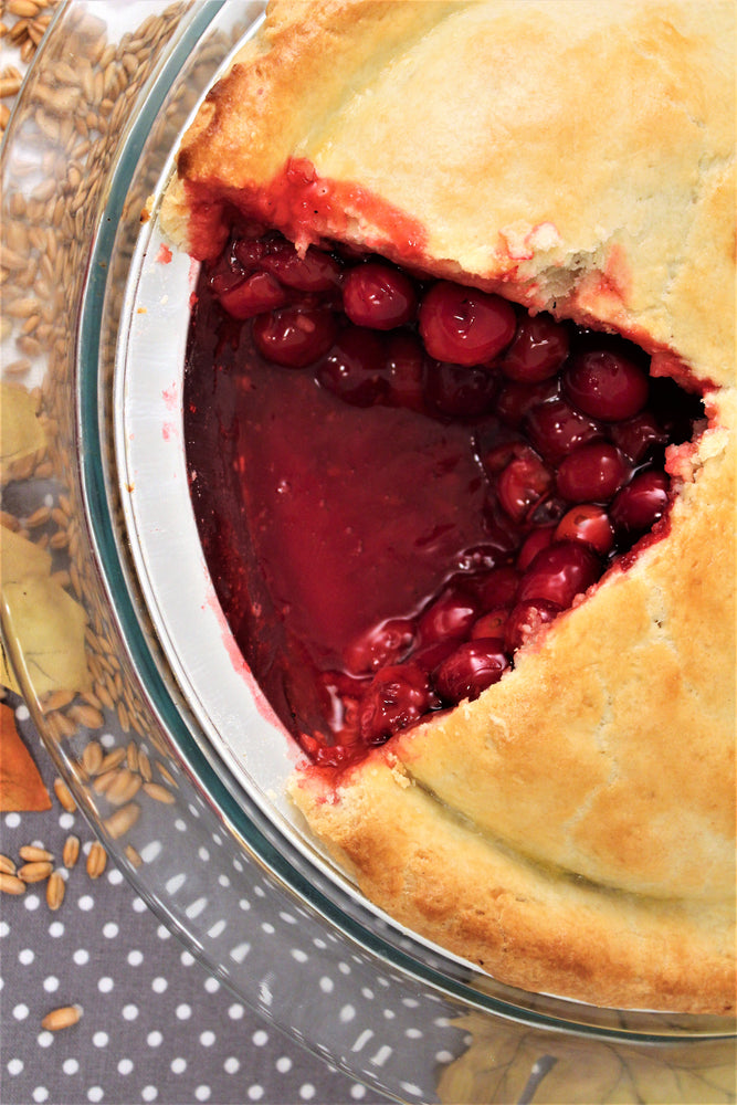 Multi-Grain Sugar-Free Cherry Amaretto Pie