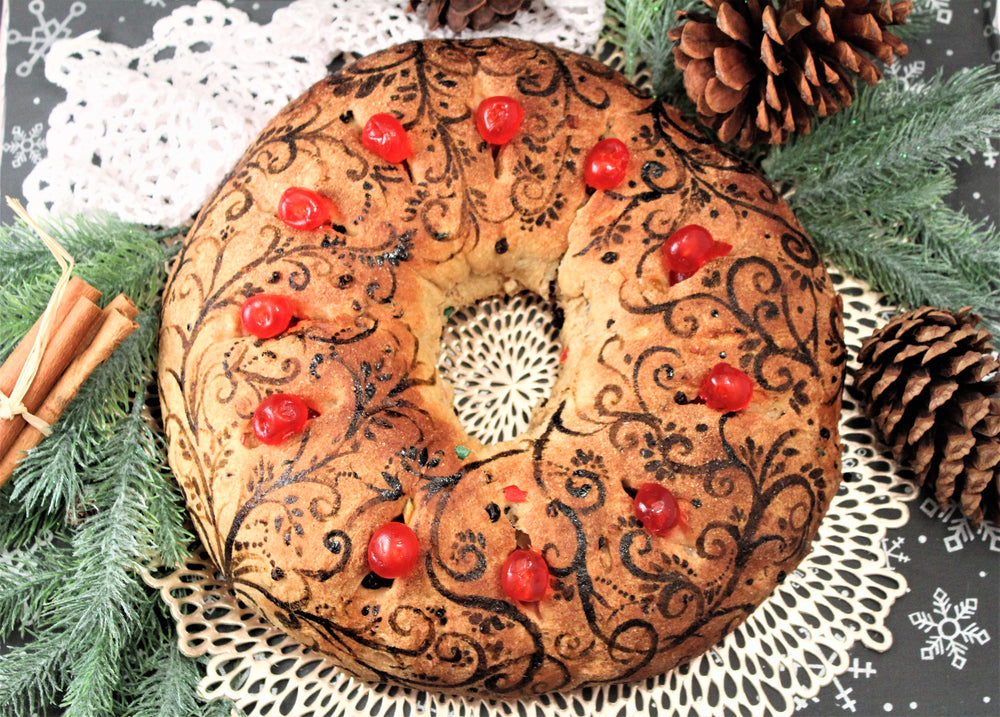 Sprouted Wheat Fruited Holiday Bread Wreath