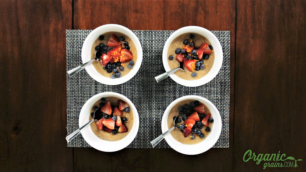 Berry Delicious Vegan Amaranth Breakfast Bowls