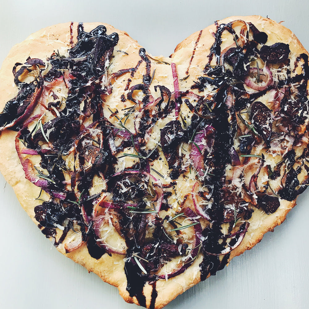 Caramelized Onion, Fig, Rosemary & Parmesan Flatbread