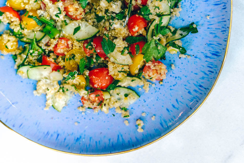 Sprouted Quinoa Tabbouleh