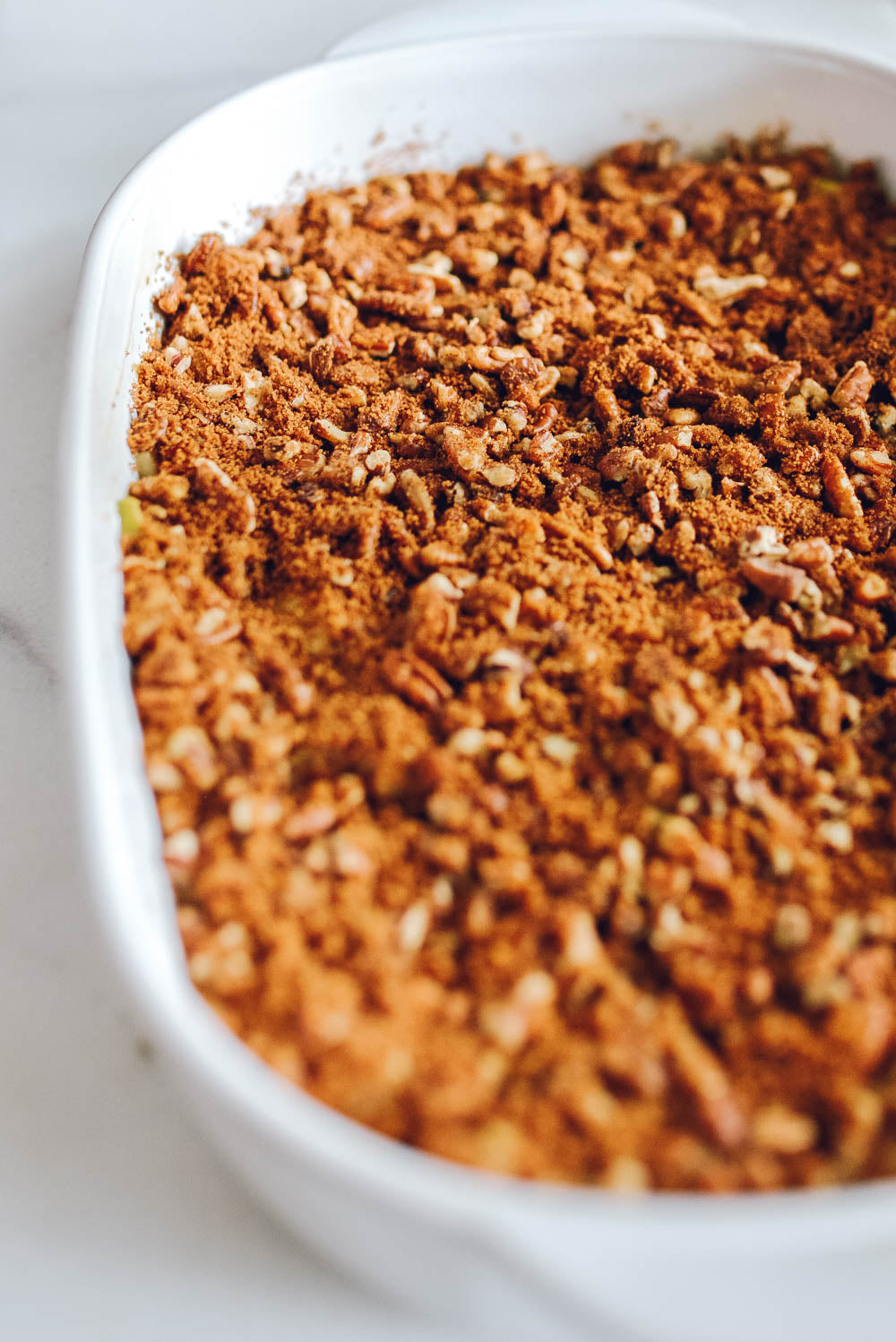 apple coffee cake crumble