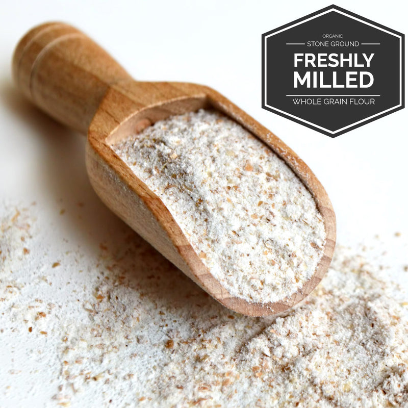 Organic Grains Flour Milled When Your Order It.