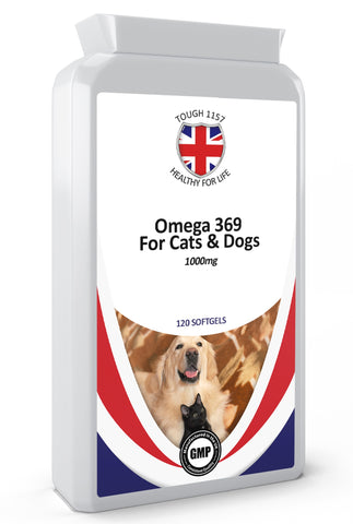 Omega 3, 6 & 9 For Cats & Dogs  1000mg 120 Softgels Supplements - Army 1157 Kit  Veterans Owned Business