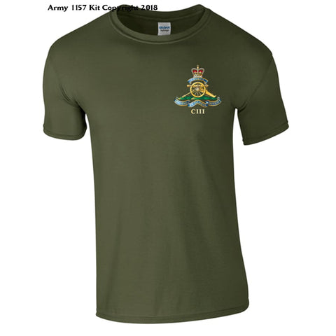 103 Regiment Of Artillery T-Shirt - Official Mod Approved Merchandise - S / Green