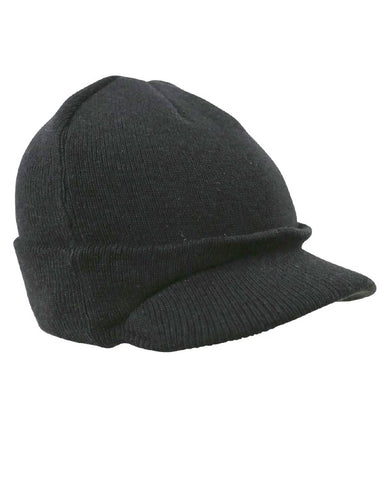 Military Jeep Hat in Black or Olive Green
