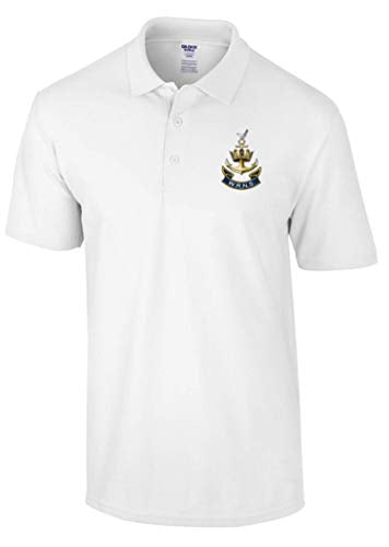 WRENS Polo Shirt (L, White) - Army 1157 Kit  Veterans Owned Business
