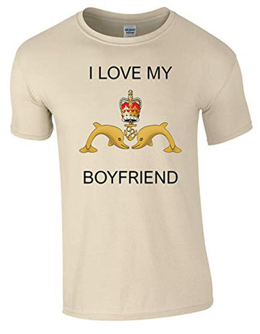 I Love My Submariner Boyfriend T-Shirt Ministry of Defence Official MOD Approved Merchandise