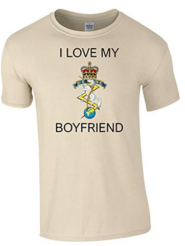 I Love My REME Boyfriend T-Shirt Ministry of Defence Official MOD Approved Merchandise