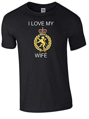 I Love My WRAC Wife T-Shirt Ministry of Defence Official MOD Approved Merchandise - Army 1157 Kit  Veterans Owned Business