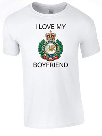 I Love My Royal Engineer (RE) Boyfriend T-Shirt Ministry of Defence Official MOD Approved Merchandise - Army 1157 Kit  Veterans Owned Business