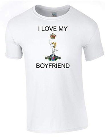 I Love My Royal Signals Boyfriend T-Shirt Ministry of Defence Official MOD Approved Merchandise